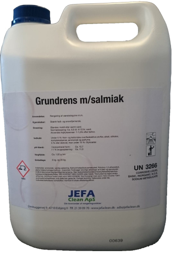 JEFA Clean - Grundrens m/salmiak - 5 L